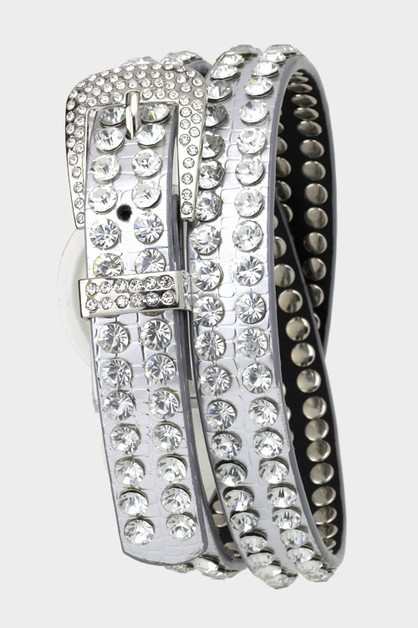 Double Row Crystals Belt - orangeshine.com