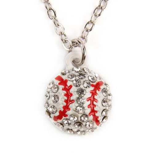 BASEBALL PENDANT CHARM NECKLACE - orangeshine.com