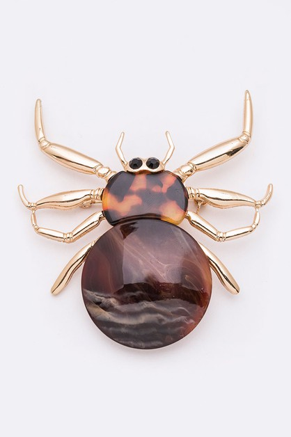 Celluloid Iconic Spider Brooch - orangeshine.com