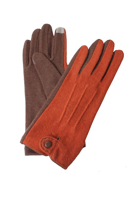 Classic Colored Blocked Gloves - orangeshine.com