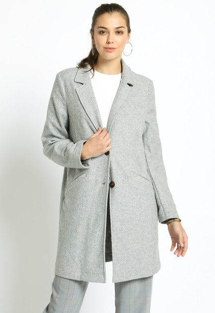 THREE FOURTHS LENGTH WOOL COAT - orangeshine.com