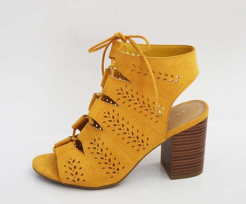 Caged Strappy Heeled Sanda - orangeshine.com