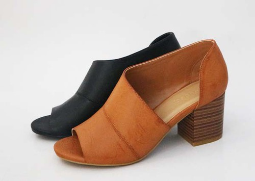 WOMENS OPEN SHANK PEEP TOE FLAT SHOE - orangeshine.com