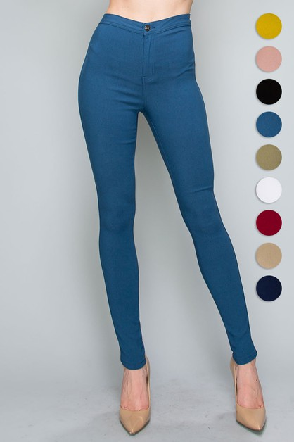 High Waist Super Stretch Jeans Pants - orangeshine.com