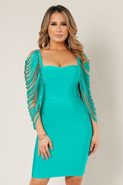 Ladder Sleeve Dress - orangeshine.com