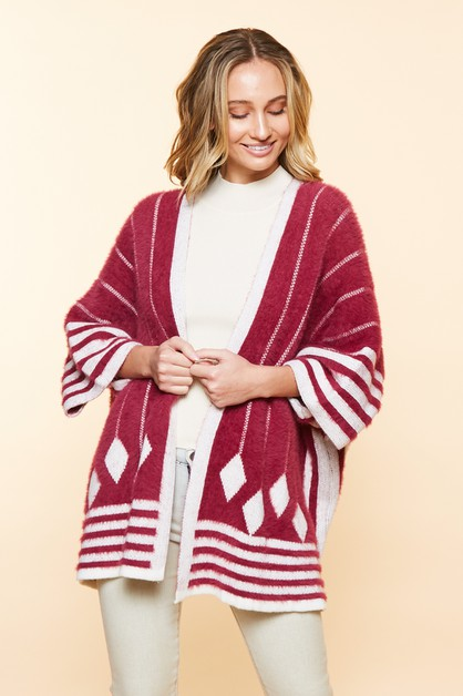 WINTER COZY FURY CARDIGAN - orangeshine.com