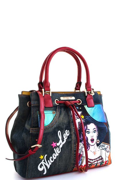 Nicole Lee Wow Lucy Print Satchel  - orangeshine.com
