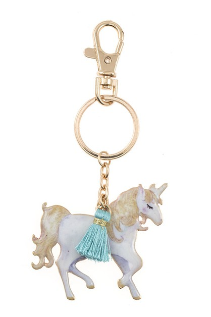 UNICORN TASSEL KEY CHAIN - orangeshine.com