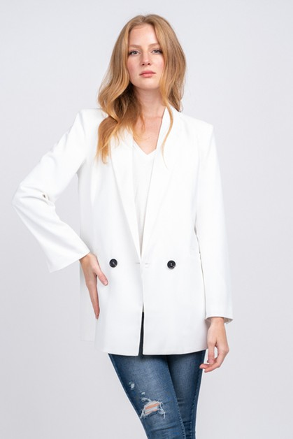 DOUBLE BREASTED BOYFRIEND BLAZER - orangeshine.com