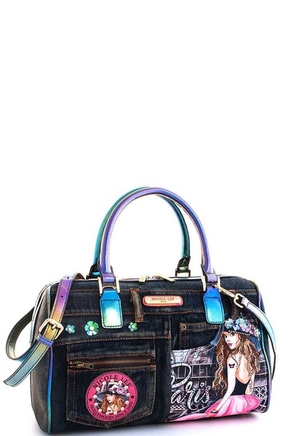 Nicole Lee Vivian Print Boston Bag  - orangeshine.com
