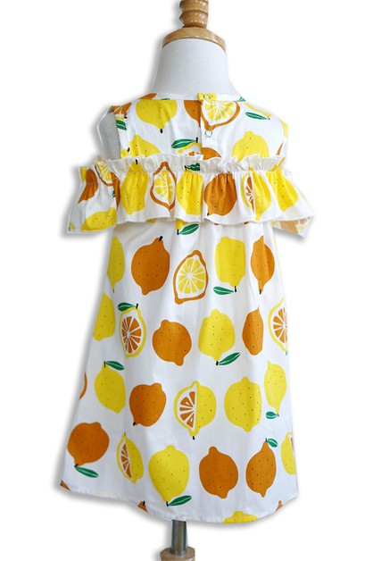 Lemon Ruffle Dress - orangeshine.com