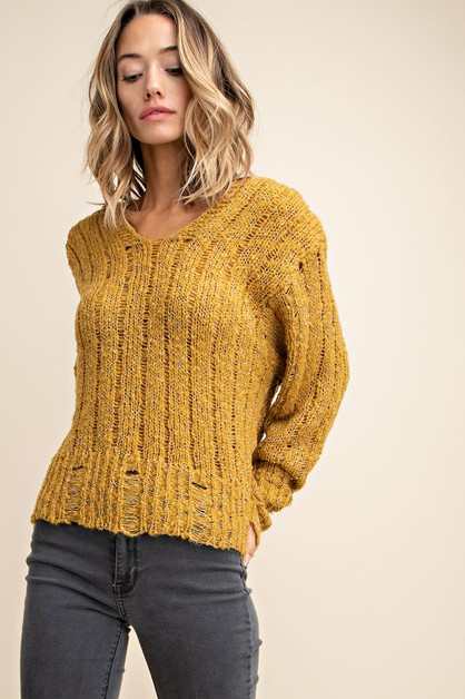 LUREX THREAD HOODIE SWEATER - orangeshine.com