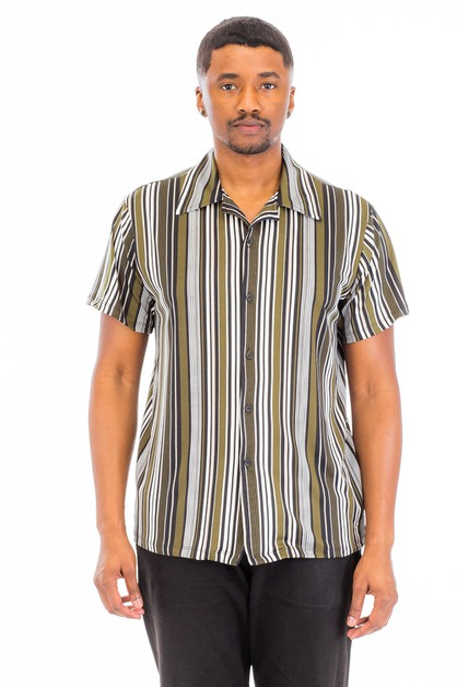 VERTICAL POLY SPAN PRINT SHIRT - orangeshine.com