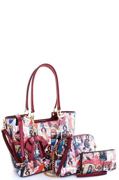 3in1 Trendy Famous People  Satchel  - orangeshine.com