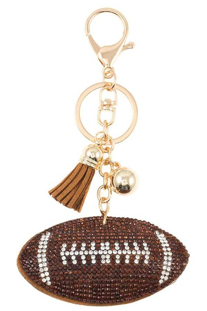 STUDDED FOOTBALL DROP KEY CHAIN - orangeshine.com