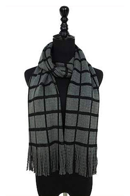 Plaid Pattern Oblong Scarves - orangeshine.com