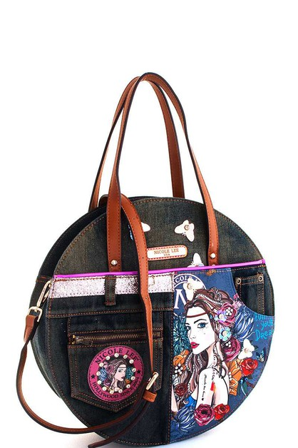 Nicole Lee BOHEMIAN CIRCLE HANDBAG - orangeshine.com