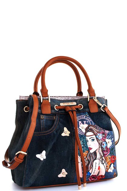 Nicole Lee Angelina Print Satchel  - orangeshine.com
