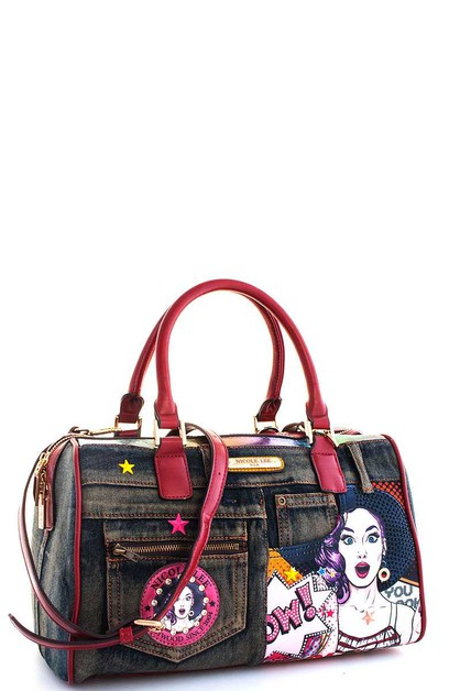 Nicole Lee Wow Lucy Print Boston Bag - orangeshine.com