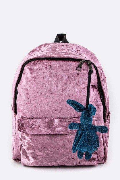 Velour Fashion Backpack - orangeshine.com