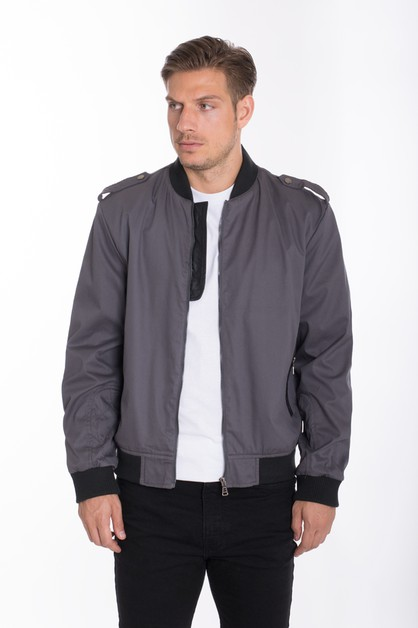 Slim Fit Bomber Jacket - orangeshine.com