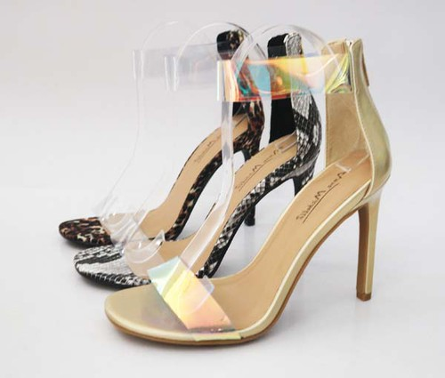 Women Ankle Strap High Sandals - orangeshine.com