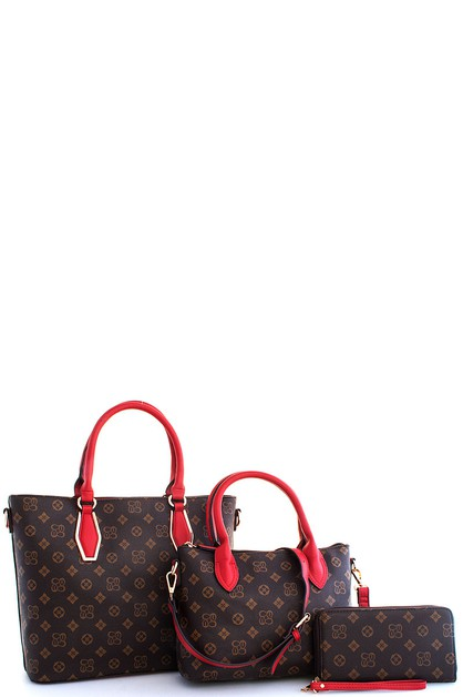 3in1 Alba Fashion Satchel Bag Set - orangeshine.com