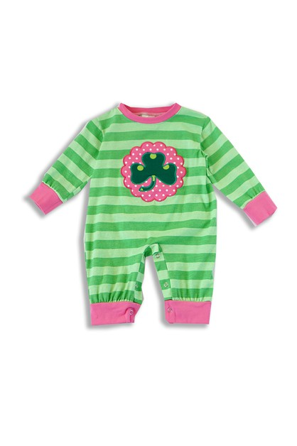 Green Saint Patrick Romper For Baby - orangeshine.com