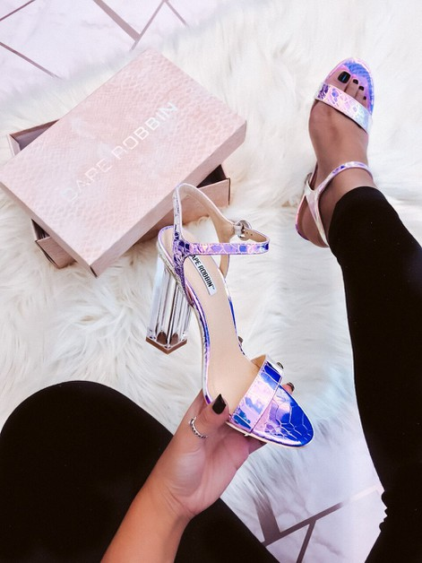 Transparent heel sandals - orangeshine.com