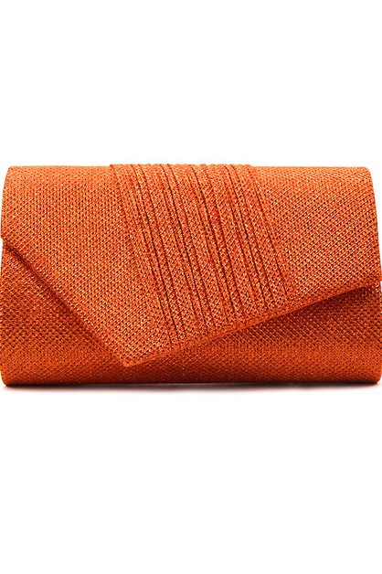 Pleated Glitter Evening Clutch Bag - orangeshine.com