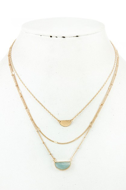 LAYERED GEM NECKLACE - orangeshine.com