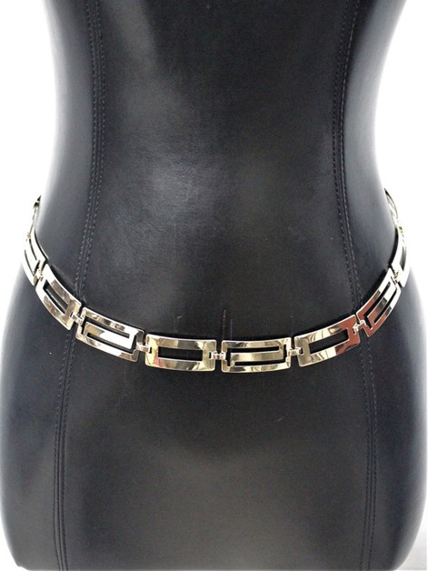 Rectangle METAL CHAIN BELT - orangeshine.com