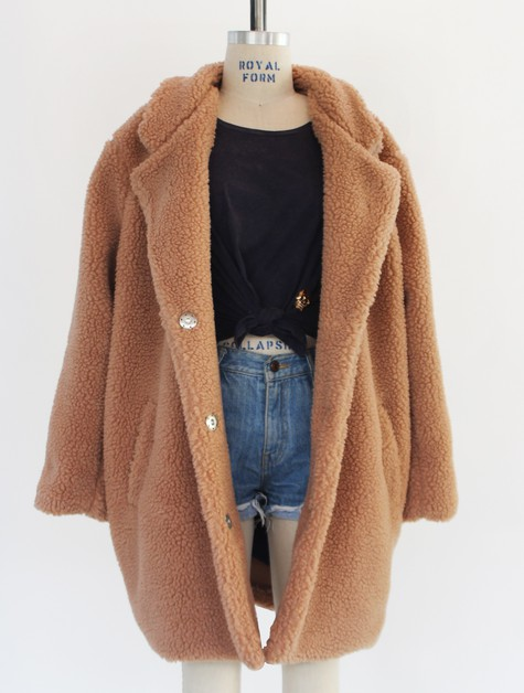 FUZZY TEDDY BEAR COAT FOR WINTER - orangeshine.com