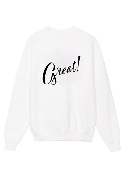 Great Printed Crew Neck Sweater - orangeshine.com