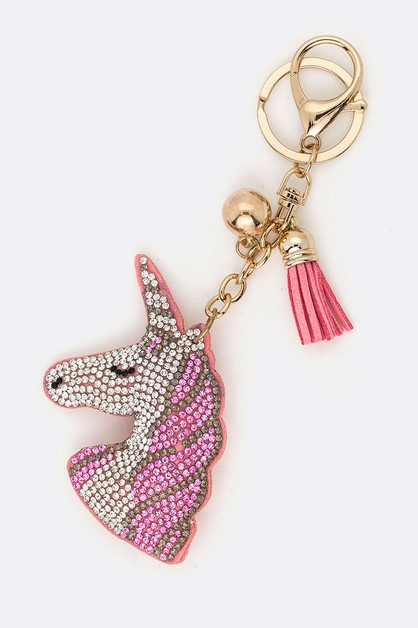 Crystal Unicorn Iconic Key Chain - orangeshine.com