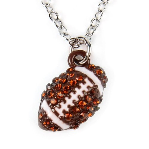FOOTBALL PENDANT CHARM NECKLACE - orangeshine.com