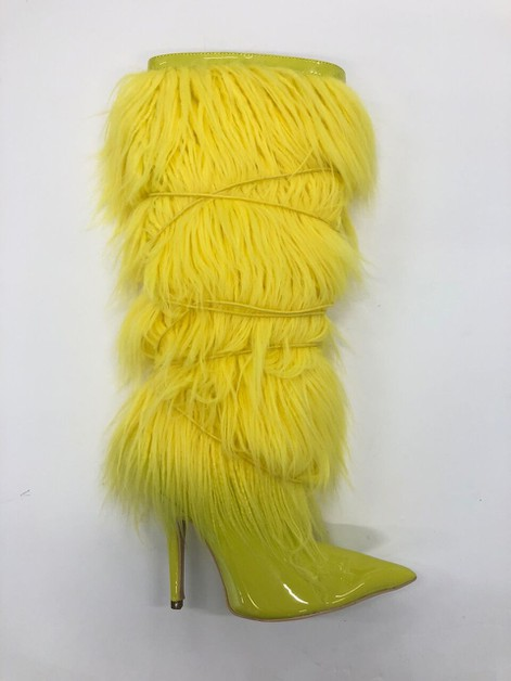 Rabbit hair LACE BOOTS - orangeshine.com