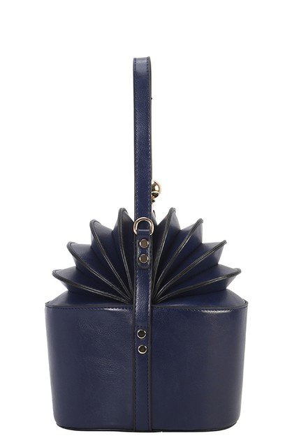 DESIGNER ACCORDION HANDBAG Kiss lock - orangeshine.com