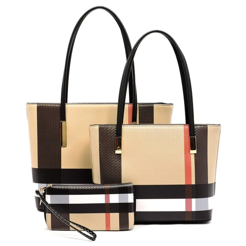 Plaid Check 3-in-1 Tote - orangeshine.com