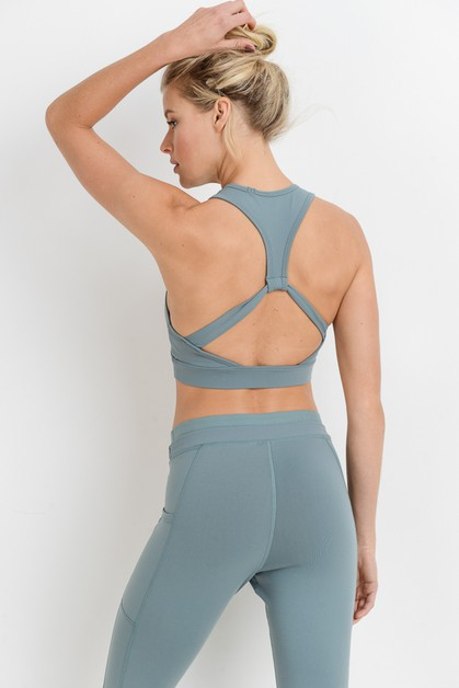 Flying V Racerback Sports Bra - orangeshine.com