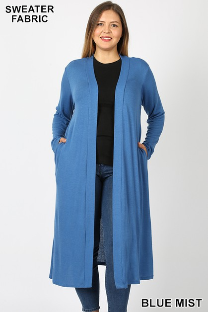 PLUS SWEATER DUSTER CARDIGAN  - orangeshine.com