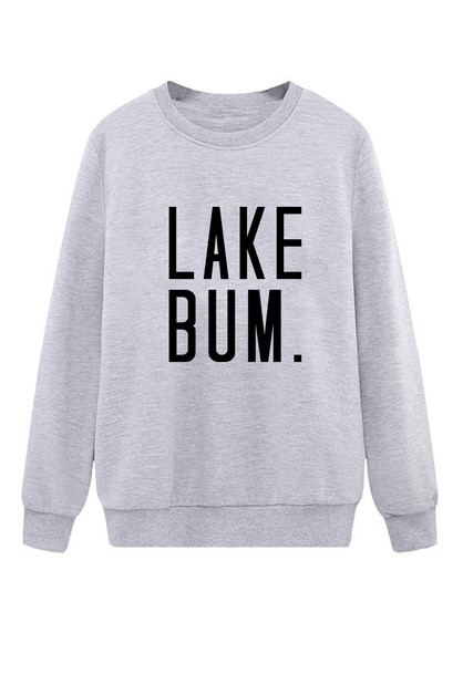 Lake Bum Crew Neck Sweater - orangeshine.com
