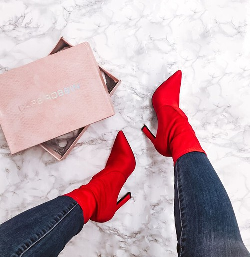 High Heel Pointed Toe Calf Booties - orangeshine.com