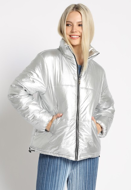 METALLIC PADDING JACKET - orangeshine.com