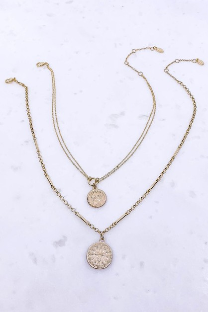 2 IN 1 MEDALLION NECKLACE - orangeshine.com