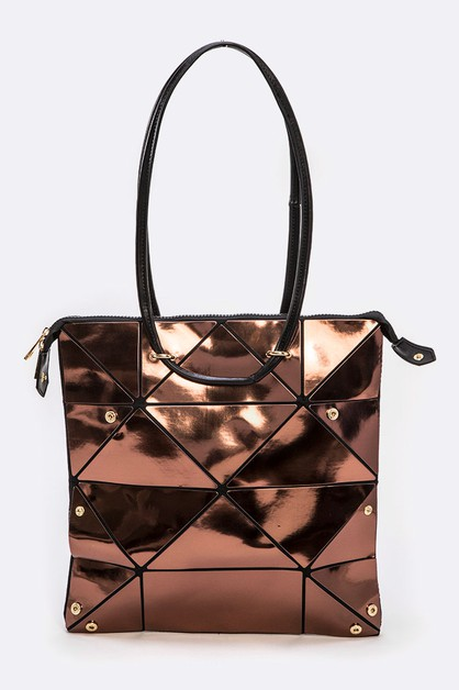 Geo Structure Fashion Tote - orangeshine.com