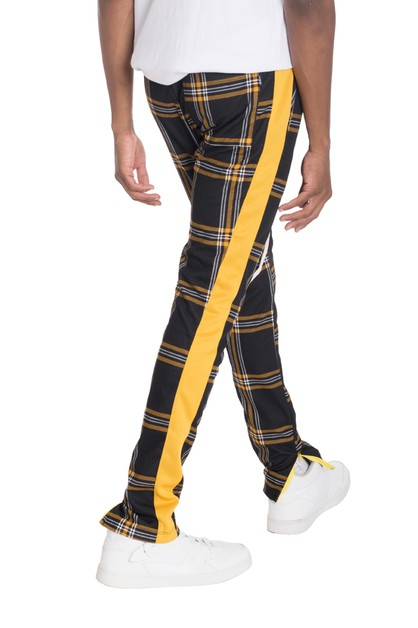 Xtreme Plaid Track Pants - orangeshine.com