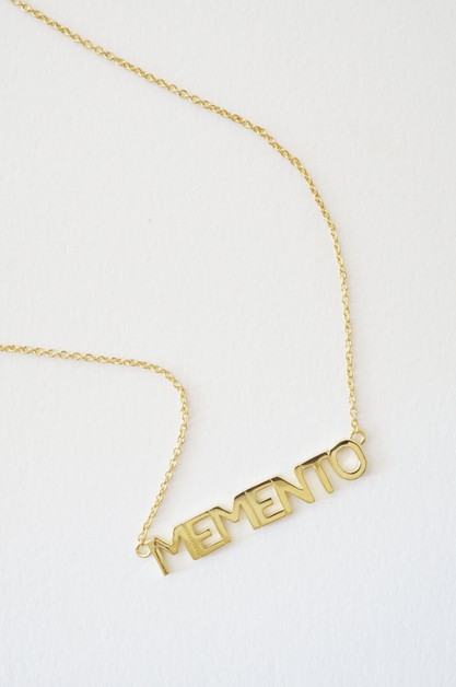 Memento Nameplate Necklace - orangeshine.com
