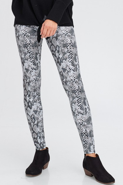 Snakeskin leggings - orangeshine.com