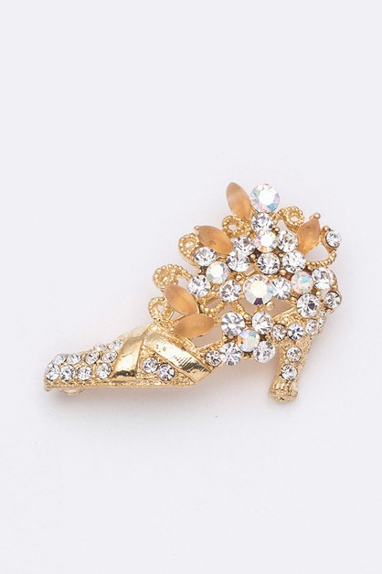 Crystal Shoe Iconic Brooch - orangeshine.com